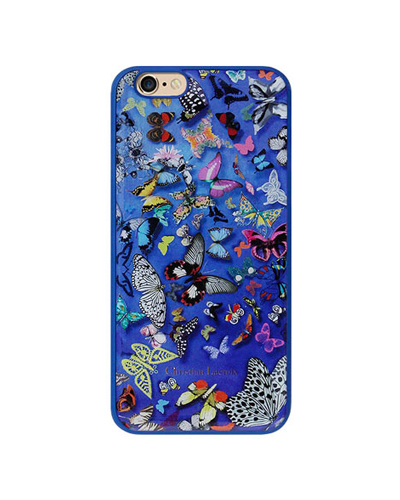 [Christian Lacroix] butterfly blue caseiPhone 6S/6