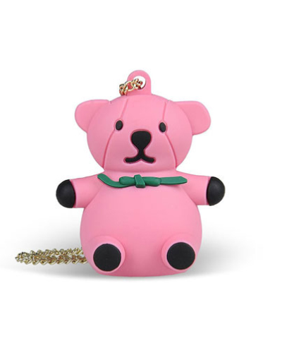 [MOSCHINO] necklace teddy bear pink USB 4G&nbsp