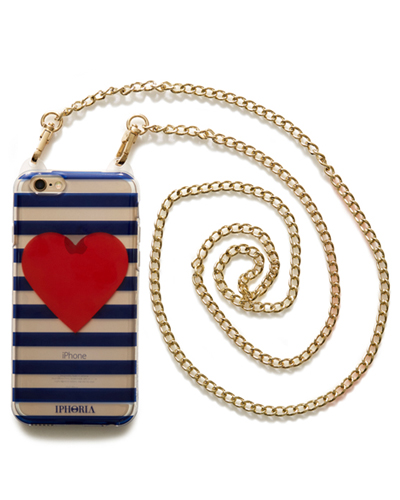 [IPHORIA] cross chain stripe heart caseiPhone 6S/6