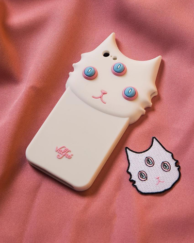 [VALFRE] blanco white cat caseiPhone 8/7