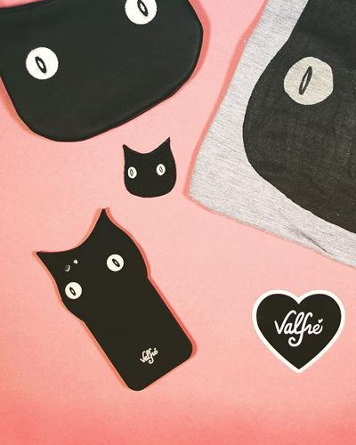 [VALFRE] bruno black cat caseiPhone 6S/6