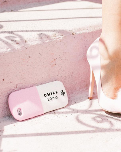 [VALFRE] chill pill pink caseiPhone 8+/7+