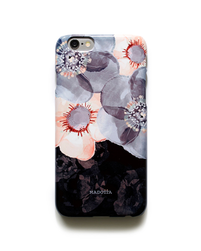 [MADOTTA] floral pattern on black caseiPhone 6S/6