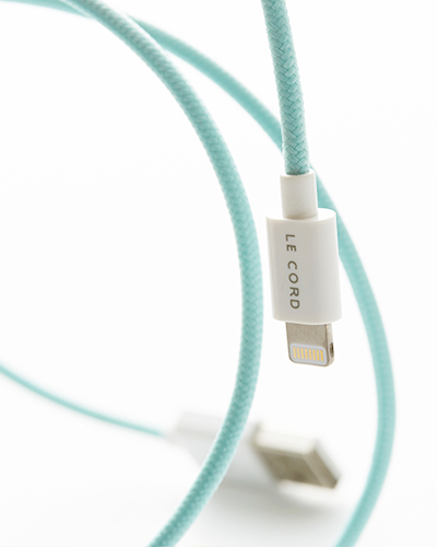 [LE CORD] USB charge solid mint cable&nbsp