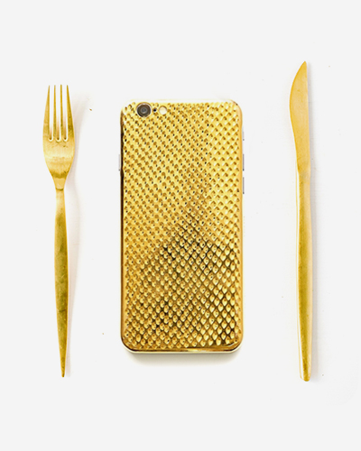 [LAMELA] cobra 18KT yellow gold caseiPhone 6S/6