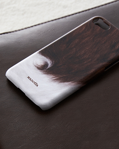 [MADOTTA] copper brown cow fur caseiPhone 8/7