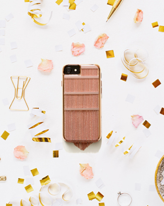 [CASE.MATE] fringed metal rose gold caseiPhone 7/6S/6
