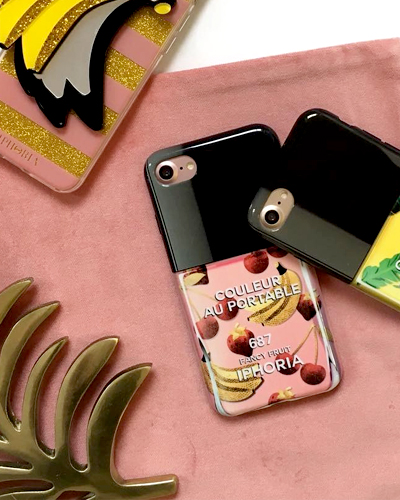 [IPHORIA] nail polish fancy fruit caseiPhone 8/7