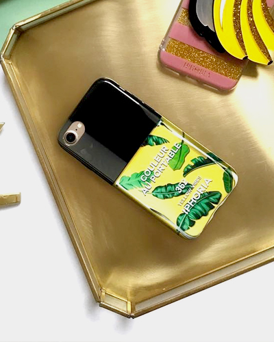 [IPHORIA] nail polish yellow vibes caseiPhone 8/7