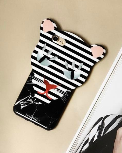 [IPHORIA] black stripe leo caseiPhone 8/7