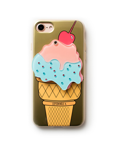 [IPHORIA] golden ice cream mirror caseiPhone 8/7