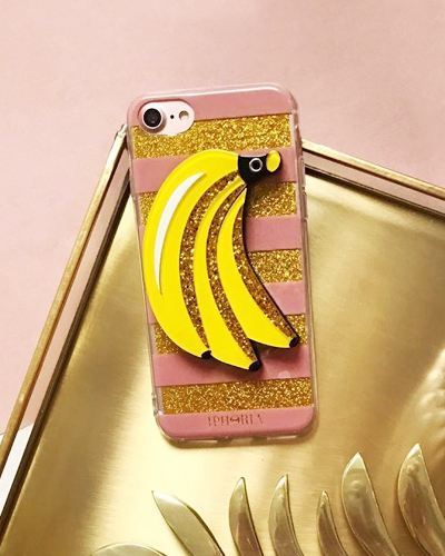 [IPHORIA] banana stripe mirror caseiPhone 8+/7+