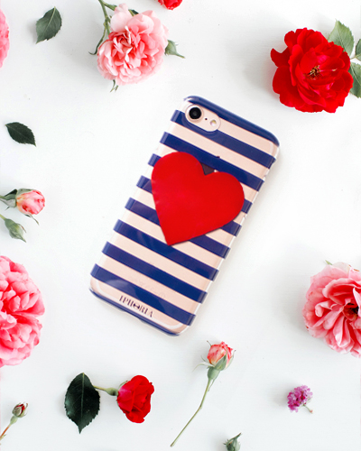 [IPHORIA] stripe red heart caseiPhone 8/7