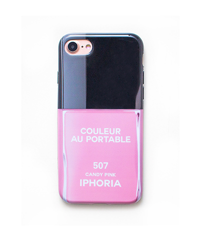 [IPHORIA] nail polish candy pink caseiPhone 8/7