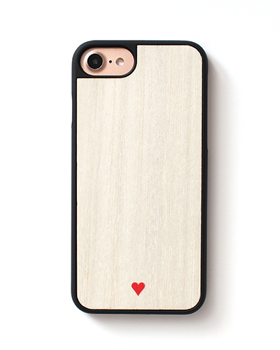 [WOOD.D] HEART WHITEiPhone 8/7